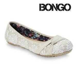 Bongo Natural Colored Lace Flats Shoes NWT NIB